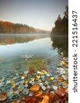 Stock photo pomerania poland autumn lake 221516437
