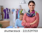 modern young fashion designer... | Shutterstock . vector #221529703