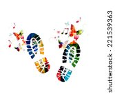 Shoe Footprint Design With...