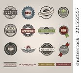 vector commercial stamps set in ... | Shutterstock .eps vector #221552557