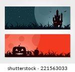 halloween banners | Shutterstock .eps vector #221563033
