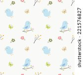 soft colored cute birds...   Shutterstock .eps vector #221576827