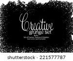 design template.abstract grunge ... | Shutterstock .eps vector #221577787