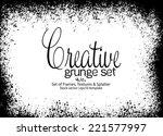 design template.abstract grunge ... | Shutterstock .eps vector #221577997