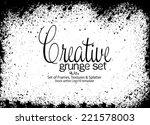 design template.abstract grunge ... | Shutterstock .eps vector #221578003