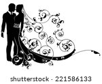 A Wedding Illustration Of A...