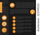 website template. flat design....