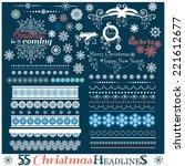Christmas Set Of Borders With...