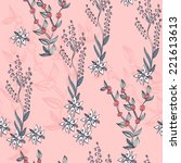 floral background. seamless... | Shutterstock .eps vector #221613613