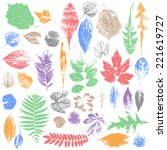 leaf collection   vector... | Shutterstock .eps vector #221619727