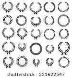 set of silhouette circular... | Shutterstock .eps vector #221622547