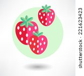 strawberry icon | Shutterstock .eps vector #221623423