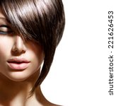 fashion haircut. hairstyle.... | Shutterstock . vector #221626453