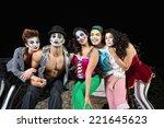 group of character clowns...   Shutterstock . vector #221645623