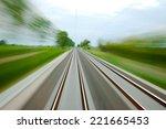 Railway Tracks With High Speed...