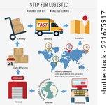 step for logistic   transport...   Shutterstock .eps vector #221675917