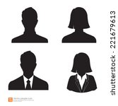 set of vector men and women... | Shutterstock .eps vector #221679613