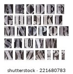 an old dirty set of lead... | Shutterstock . vector #221680783