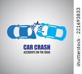 car crash and accidents icons | Shutterstock .eps vector #221693833