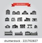 set of vector flat design... | Shutterstock .eps vector #221702827