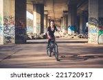 young beautiful punk dark girl... | Shutterstock . vector #221720917