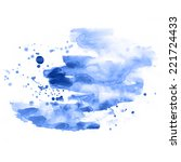 abstract blue watercolor blot