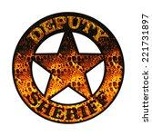 deputy sheriff   fire | Shutterstock . vector #221731897