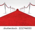 red carpet and rope barrier | Shutterstock . vector #221746033