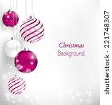 Pink Christmas Spiral Balls...
