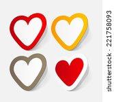 paper sticker  valentine's day. ...   Shutterstock . vector #221758093