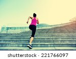 runner athlete running on... | Shutterstock . vector #221766097