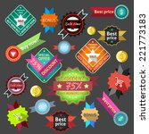 sale discount vintage bonus... | Shutterstock .eps vector #221773183