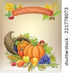 background with cornucopia.  | Shutterstock .eps vector #221778073