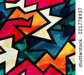 urban grunge geometric seamless ... | Shutterstock .eps vector #221778937