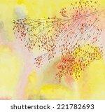 autumnal tree  branch.... | Shutterstock .eps vector #221782693