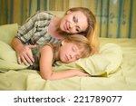 beautiful happy smiling mother... | Shutterstock . vector #221789077