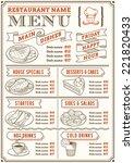 a full vector template menu for ... | Shutterstock .eps vector #221820433