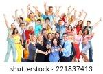 group of workers people.... | Shutterstock . vector #221837413
