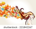 vector beautiful  cute  hand... | Shutterstock .eps vector #221842267