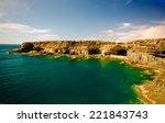 coastal caves at ajui... | Shutterstock . vector #221843743