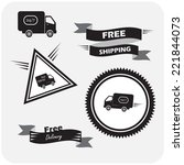 illustration of icons shipments ... | Shutterstock .eps vector #221844073