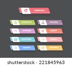 vector multicolored flat web... | Shutterstock .eps vector #221845963
