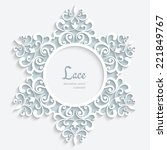 Round Paper Lace Frame With...