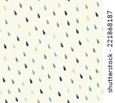 Vector Rain Drops Background