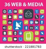 web  media communication ... | Shutterstock .eps vector #221881783