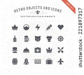 Retro Objects And Icons Vector...
