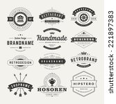 retro vintage insignias or... | Shutterstock .eps vector #221897383