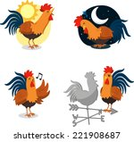 rooster cartoon illustrations...