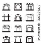 metal structures icon set  ...