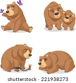 grizzly brown bear vector... | Shutterstock .eps vector #221938273